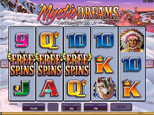 Video Slots Free Spins Bonus Mystic Dreams