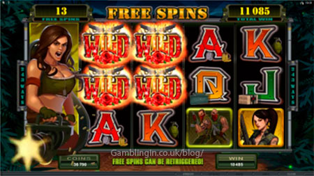 Girls With Guns - Jungle Heat Video Slot Game