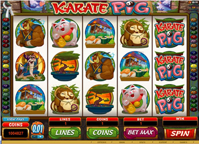 Karate Pig Online Video Slot Game