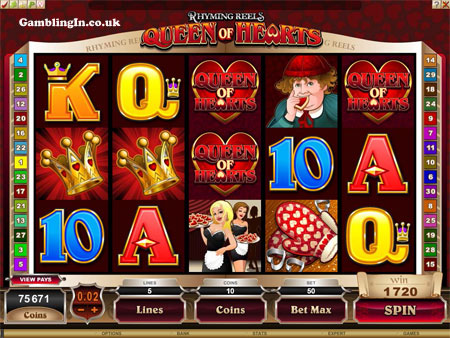 New Online Video Slot Game : Queen of Hearts