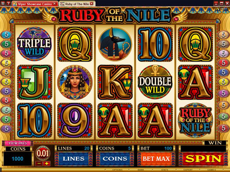 Microgaming Online Video Slot Game : Ruby of the Nile