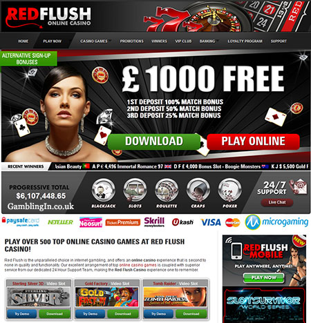 Red Flush online casino site
